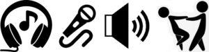 produkční agentura, DJs, Reprodukovana hudba